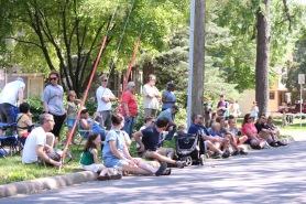 Clark Street crowd