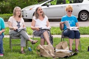 Community Singing (photo by Linda Lee)